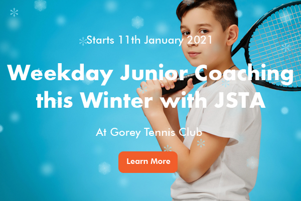 Junior Tennis Coaching at Gorey banner image