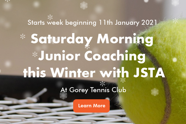 Junior Saturday Morning Tennis Coaching at Gorey banner image