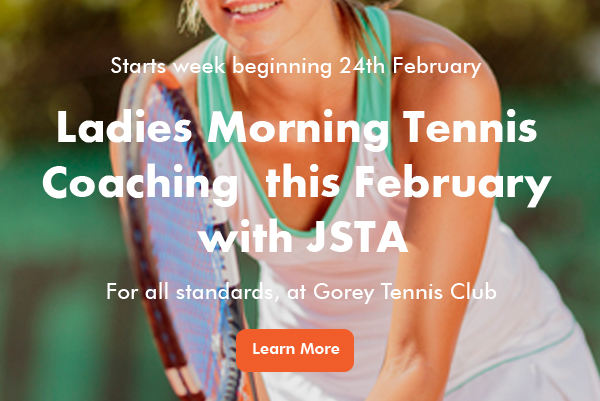 Ladies Morning Tennis Coaching at Gorey banner image