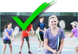 Teenagers playing tennis image
