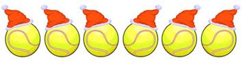 Christmas tennis balls
