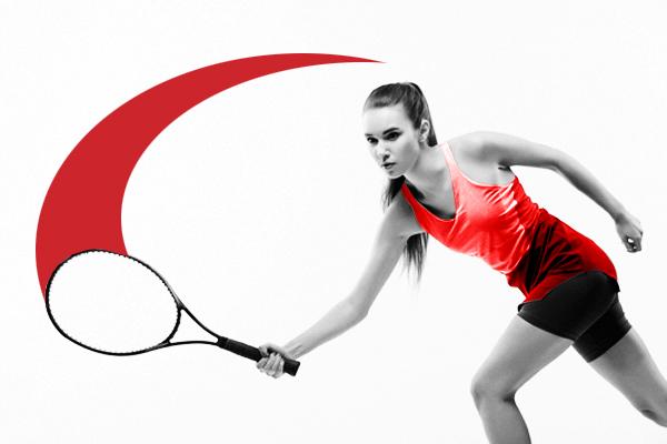 woman playing tennis image